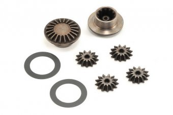 Gear set, differential (output gears (2)/ spider gears (4)/ 16x23.5x.5mm TW (2))