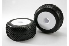 Tires & wheels, assembled, glued (white dished 3.8'' wheels, Response Pro tires, foam