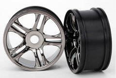 Wheels, split-spoke (black chrome) (front) (2)