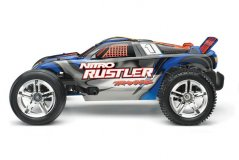 TRAXXAS Nitro Rustler 2WD 1/10 RTR + NEW Fast Charger