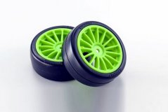 Drift Tire(Pre-glued/F-Green/2pcs)FAZER