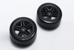 Drift Tire Front(10Spoke/BK/24mm/2pcs)