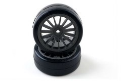 Drift Tire Front (14-Spoke/Black)